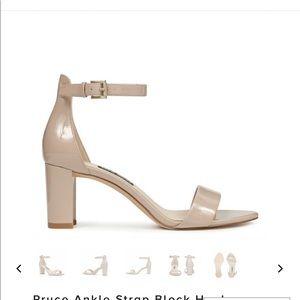 Pruce Ankle Strap Block Heel Sandals- Nine West
